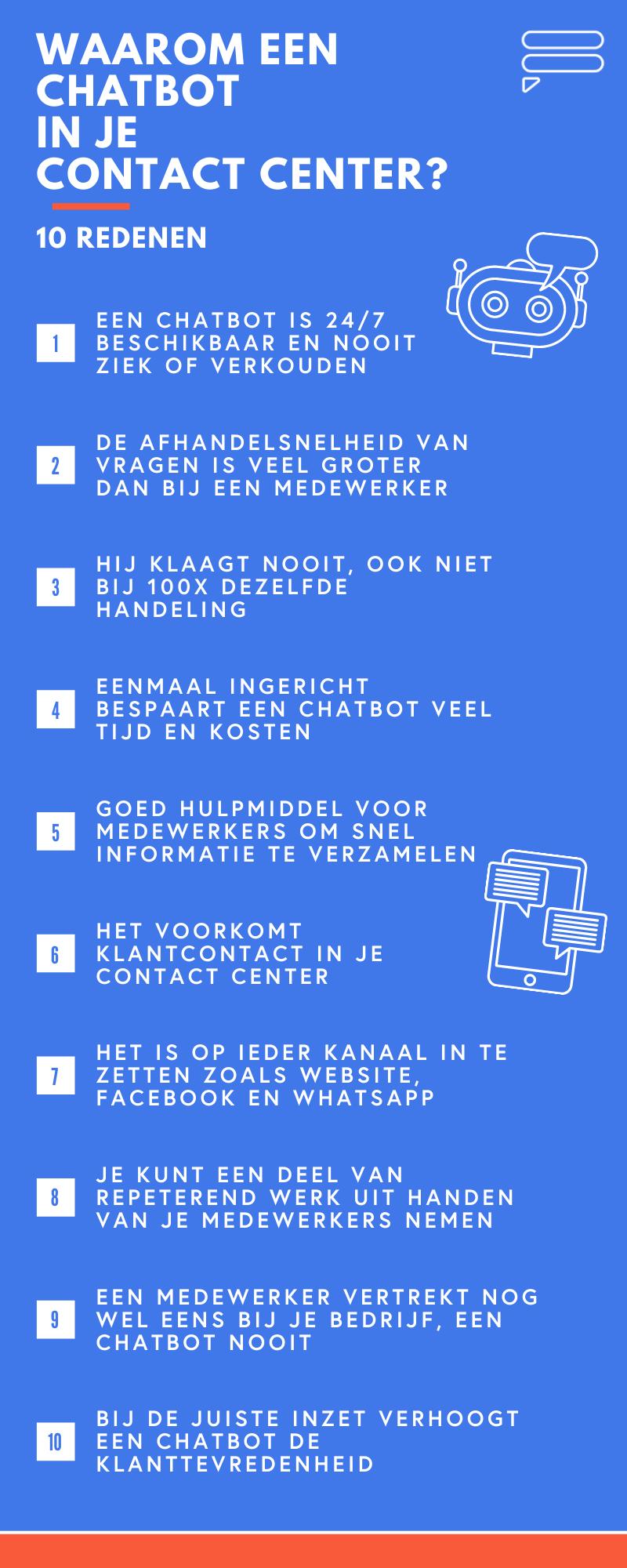 chatbot-contact-center-10-redenen-infographic