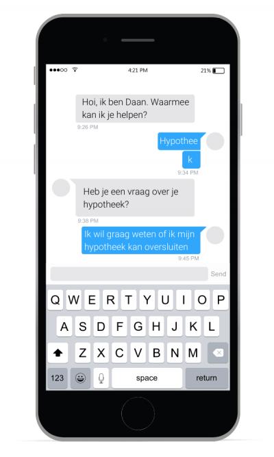 chatbot-voorbeeldscherm